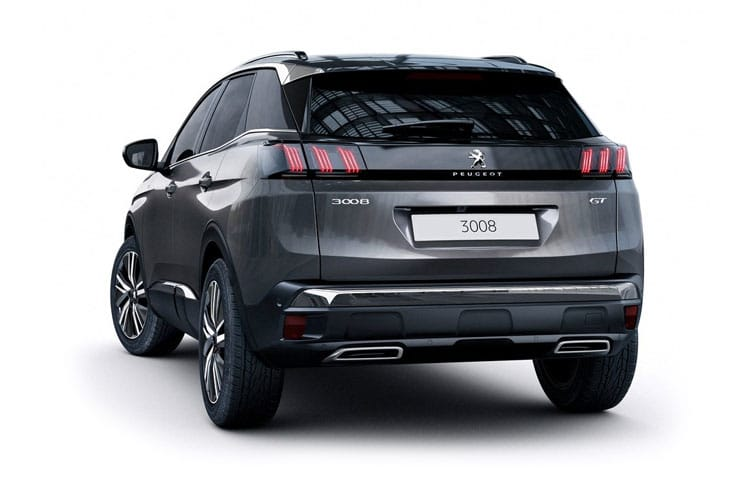 Peugeot 3008 SUV HYBRID 1.6 PHEV 13.2kWh 225PS GT Line 5Dr e-EAT [Start Stop] back view