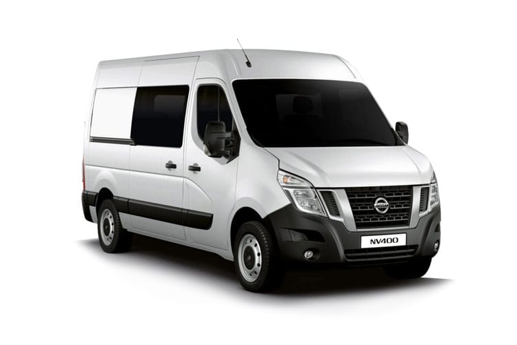Nissan NV400 L2 35 FWD 2.3 dCi FWD 150PS Tekna Crew Van Medium Roof Manual [Start Stop] front view